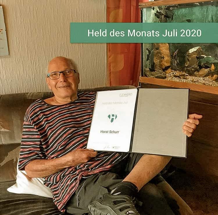 Horst engagiert sich ehrenamtlich für Kinder und ist Held des Monats im Ehrenamt
