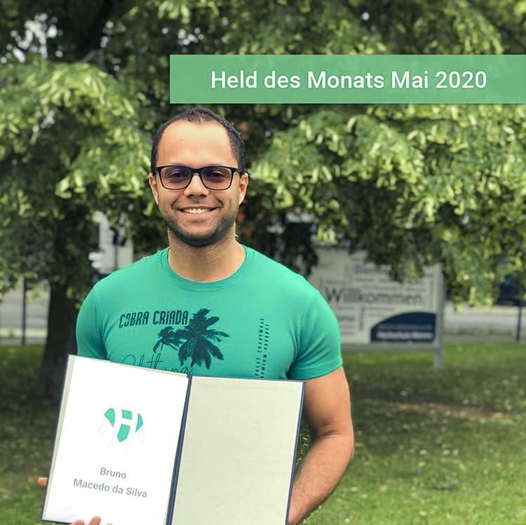 Bruno, Student der Hochschule Worms ist Held des Monats Mai im Ehrenamt