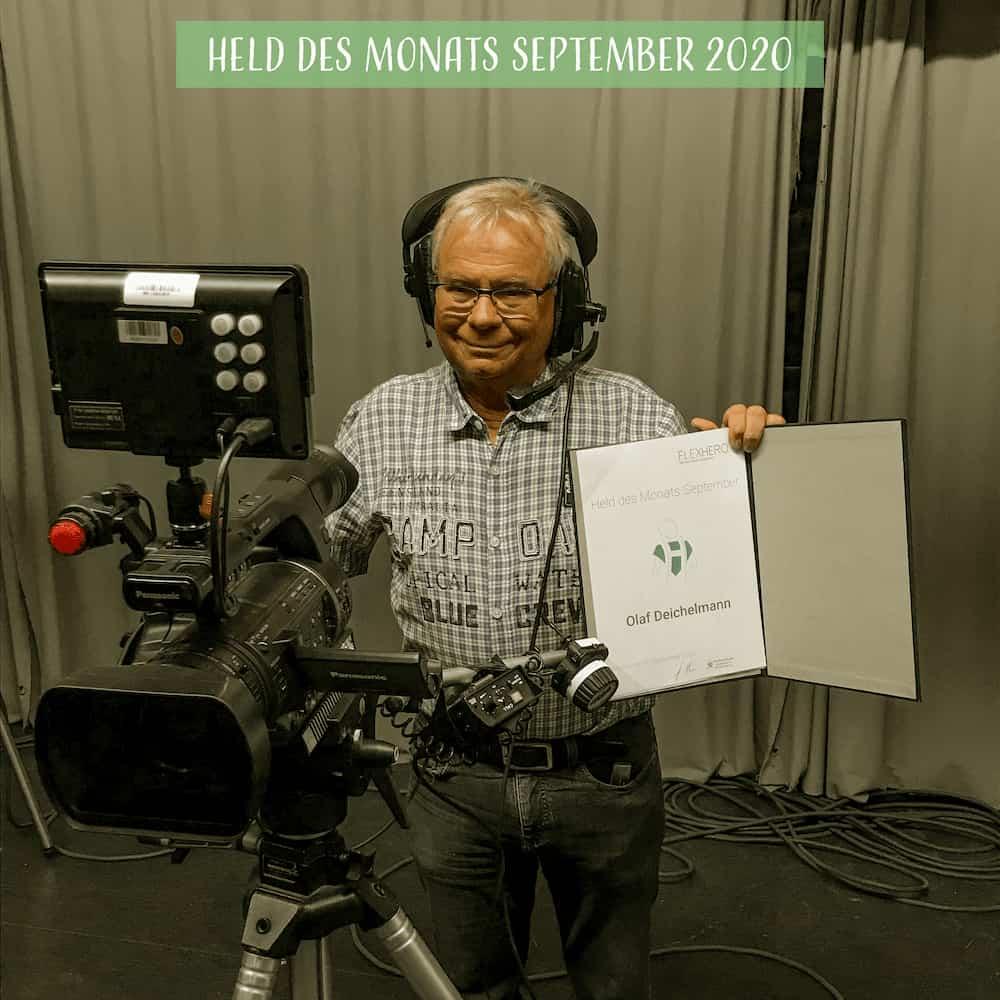 Olaf Deichelmann, Held des Monats September hinter der Kamera des Offenen Kanals in Worms