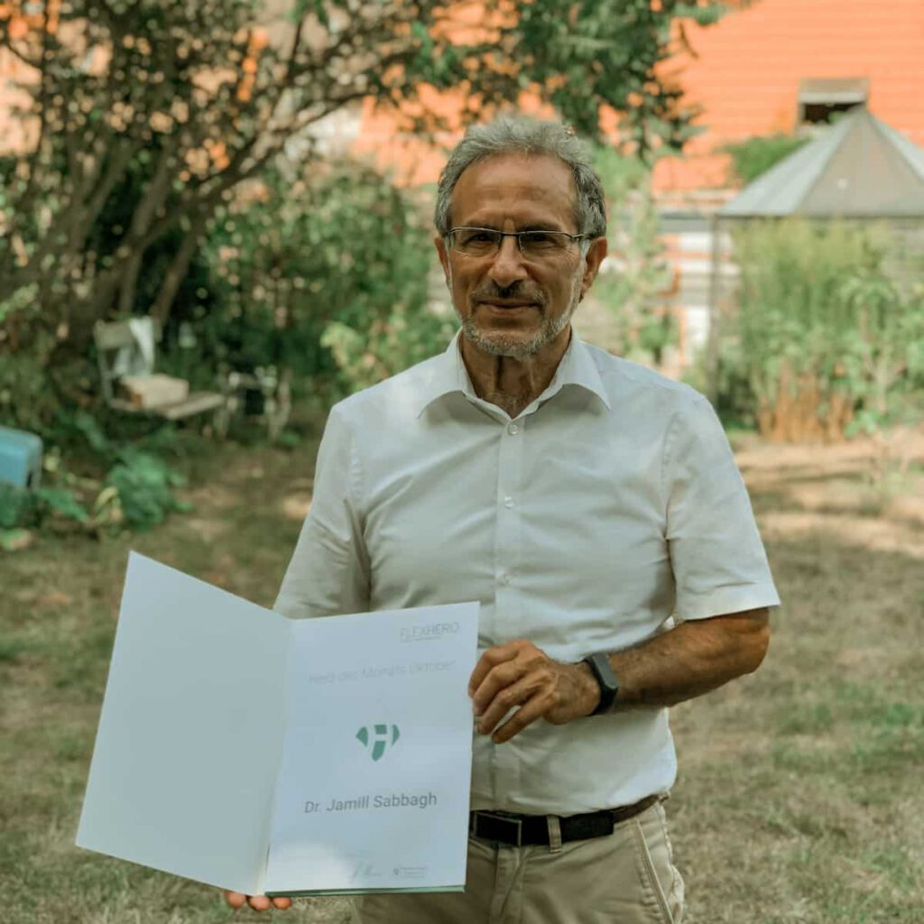 Dr. Sabbagh ist ehrenamtlicher Held des Monats Oktober 2020