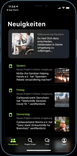 Darstellung der neuen ehrenamtlichen Projekte in Deutschen Städten