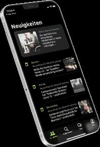 FlexHero App ist in Iphone geöffnet. Dort werden die neusten ehrenamtlichen Projekte dargestellt