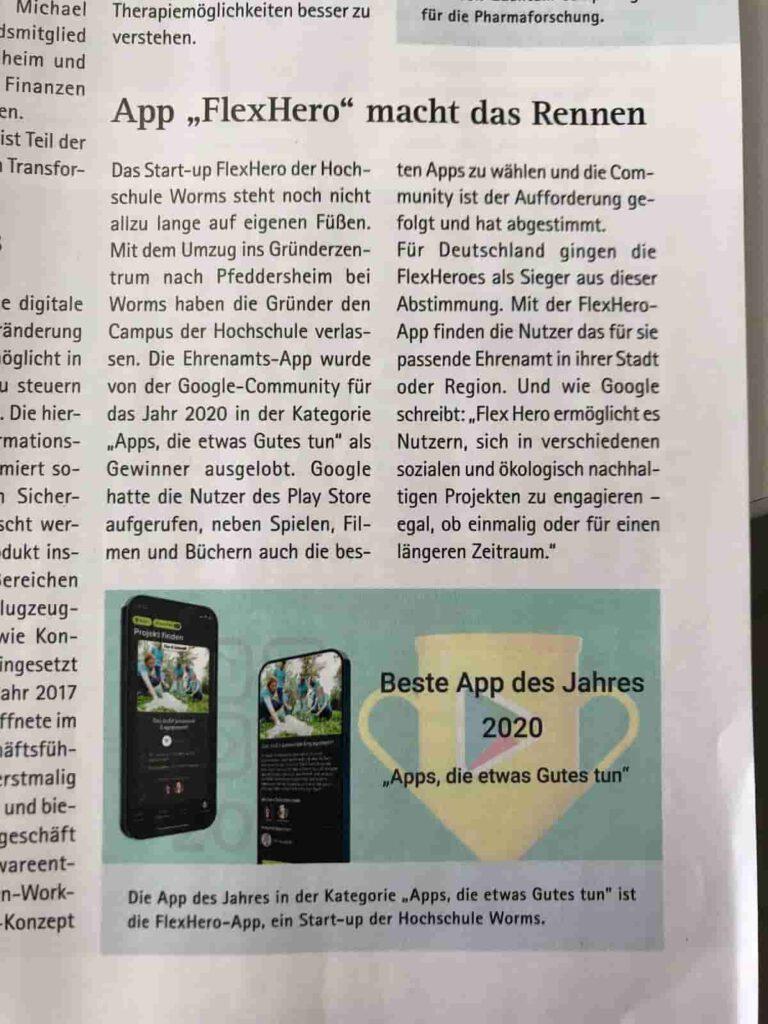 Presseartikel der IHK zur App FlexHero