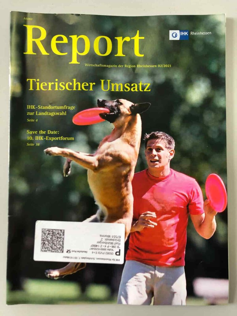 Titelbild der Ausgabe Februar 2021 des Magazins Report der IHK