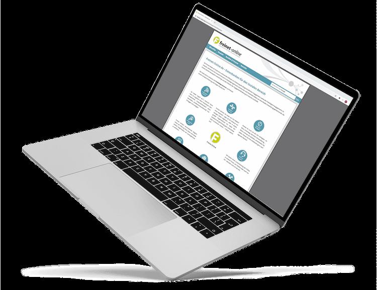 Laptop mit Website von Freinet-Online