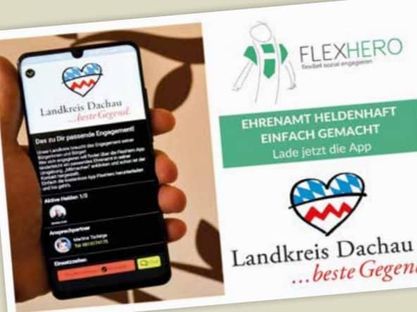 Smartphone mit Ehrenamtlichen Projekt im Karlsfeld