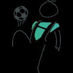 Ehrenamtlicher Held spielt Fußball im Sportverein