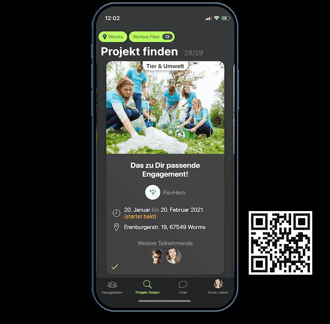 Ehrenamtliches Projekt in FlexHero App